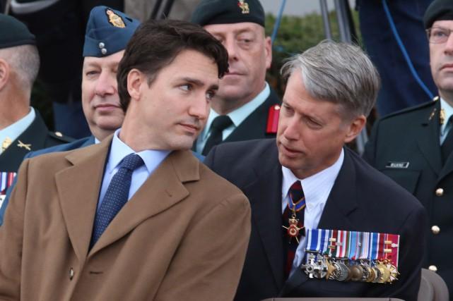 Le premier ministre Justin Trudeau et le whip... (Archives PC)