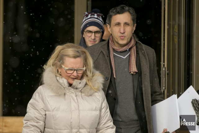 Amir Khadir de Québec solidaire et Nancy Drolet,... (PHOTO DAVID BOILY, LA PRESSE)