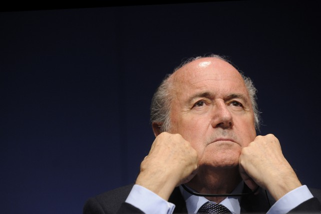 Le président démissionnaire de la FIFA, Joseph Blatter... (PHOTO ARCHIVES AFP)
