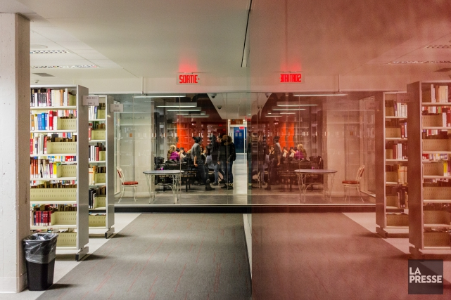 Des «groupes d'étudiants» se sont approprié un étage... (photo edouard plante-fréchette, la presse)