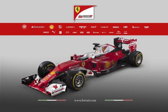 La nouvelle monoplace de Ferrari, la SF16-H (pour... (PHOTO AFP / FERRARI)