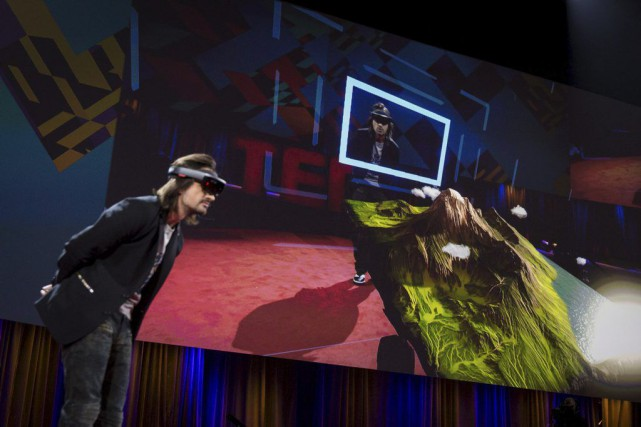Pour Alex Kipman, inventeur chez Microsoft,des appareils comme... (PHOTO BRET HARTMAN, AFP)