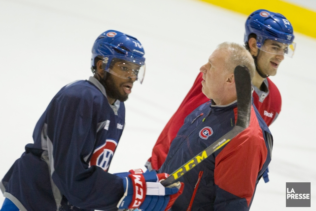 P.K. Subban, Michel Therrien et Max Pacioretty... (PHOTO IVANOH DEMERS, ARCHIVES LA PRESSE)