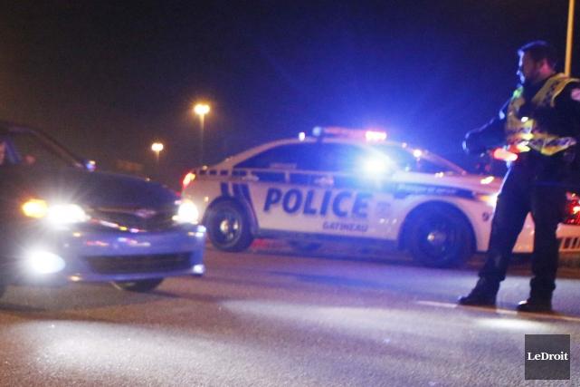 Les policiers de Magog ont eu affaire à un conducteur qui n'aurait pas dû être... (Archives Le Droit)