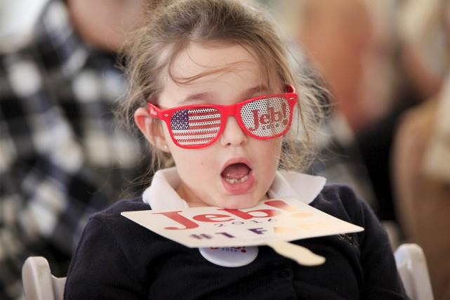 Reagan Gregg, 6 ans, affiche fièrement sa préférence... (PHOTO RANDALL HILL, ARCHIVES REUTERS)