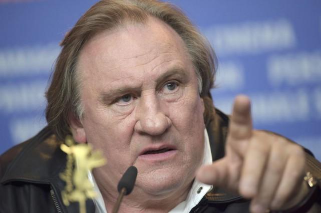 Gérard Depardieu en conférence de presse pour la... (PHOTO REUTERS)