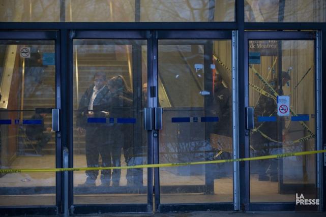 L'accident est survenuau pavillon Roger-Gaudry.... (PHOTO MARTIN TREMBLAY, LA PRESSE)