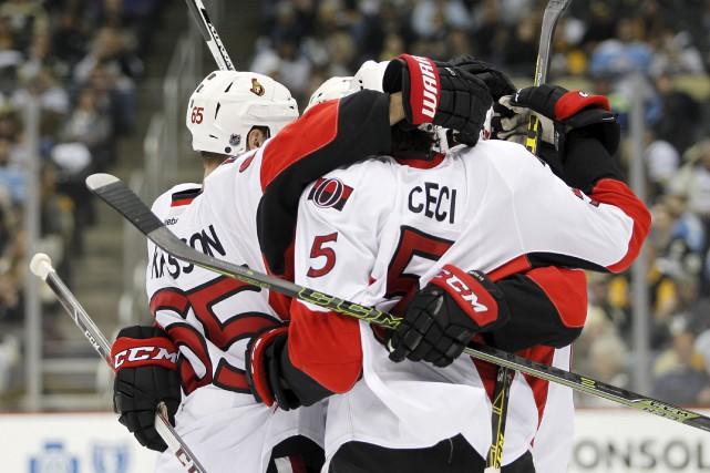 Le défenseur ottavien Cody Ceci compte 10 points... (Justin K. Aller, Archives Getty Images/AFP)