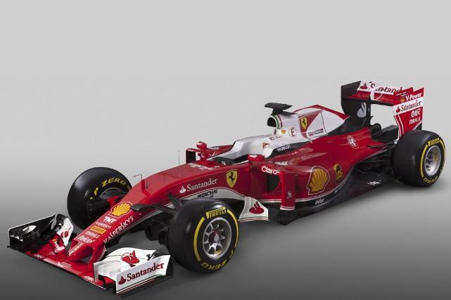 Ferrari a dévoilé sa nouvelle monoplace SF16-H (pour... (AFP)
