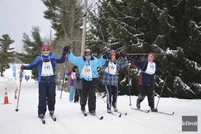 Les amateurs de ski de fond qui parcouraient... (Benoit Sabourin, Archives Le Droit)