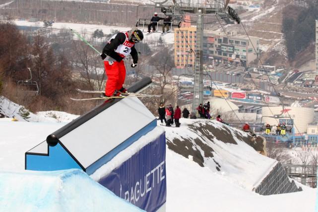 Alex Bellemare a remporté l'or sur le futur... (Oliver Kraus, FIS)