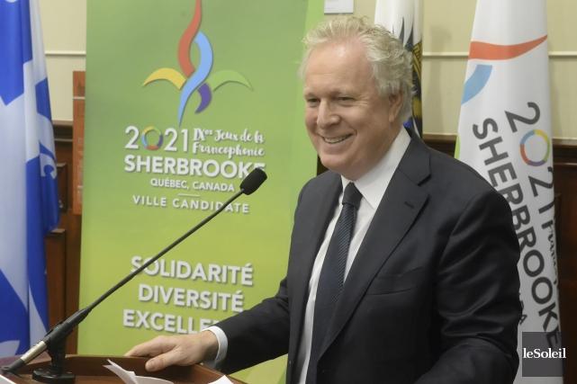 Jean Charest, président d'honneur du comité formé pour... (Photothèque Le Soleil)