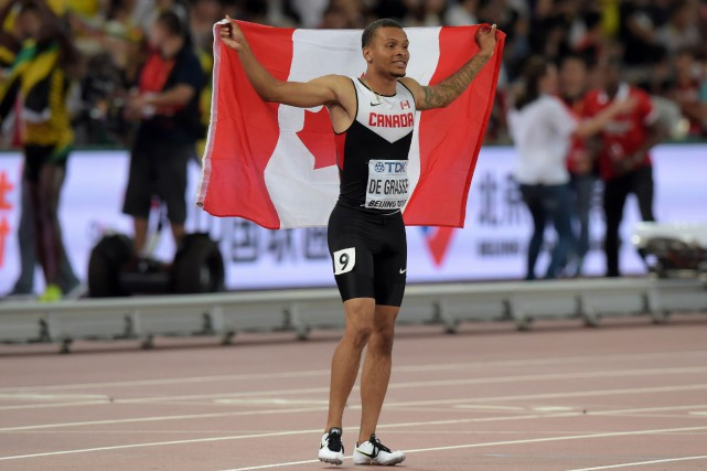 Andre De Grasse... (PHOTO ARCHIVES USA TODAY)