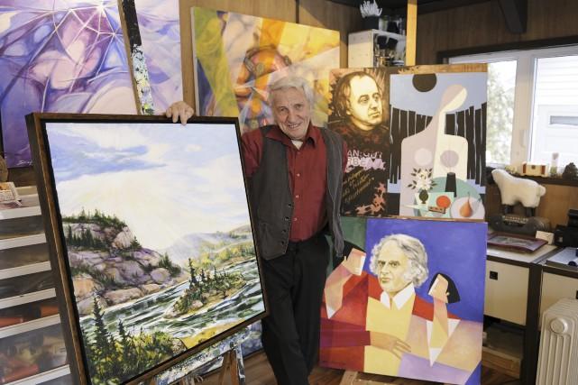 Parrain d'honneur du Symposium international de peinture et... (Photo Le Progrès-Dimanche, Mariane L. St-Gelais)