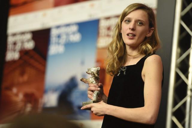 La réalisatrice française Mia Hansen-Love a été couronnée... (Photo ODD ANDERSEN, AFP)