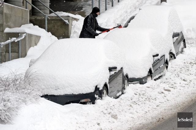 La neige a fait la joie des centres... (Le Soleil, Erick Labbé)