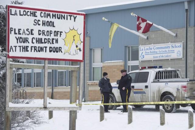 L'école est fermée depuis qu'un enseignant et son... (Photo JONATHAN HAYWARD, PC)