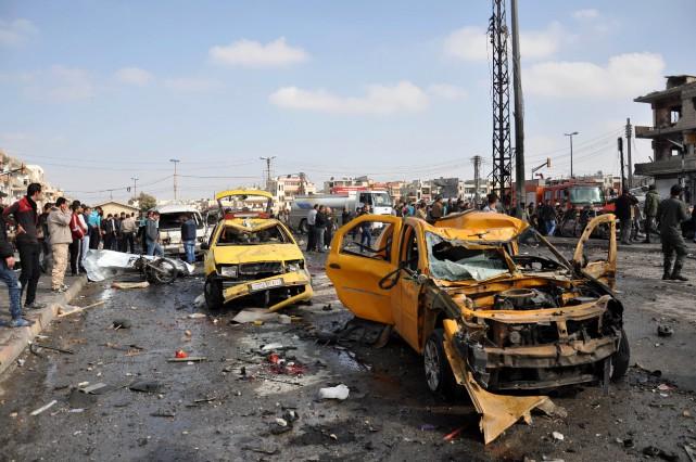 Revendiquant l'attaque, l'EI a affirmé que deux de... (Photo AFP)