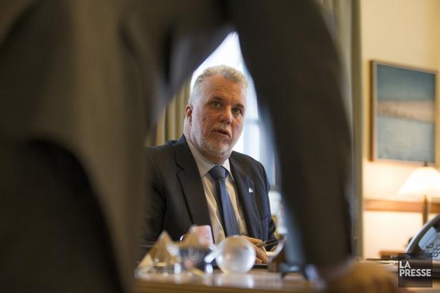 Le premier ministre du Québec, Philippe Couillard.... (Ivanoh Dermers, La Presse)