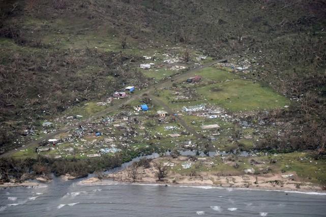 Le village de Tavua, sur la plus grande... (AFP, NEW ZEALAND DEFENCE FORCE)