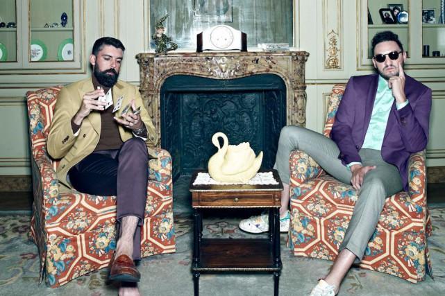 Le duo acadien Radio Radio est beaucoup plusfrancofunlorsqu'il glisse...