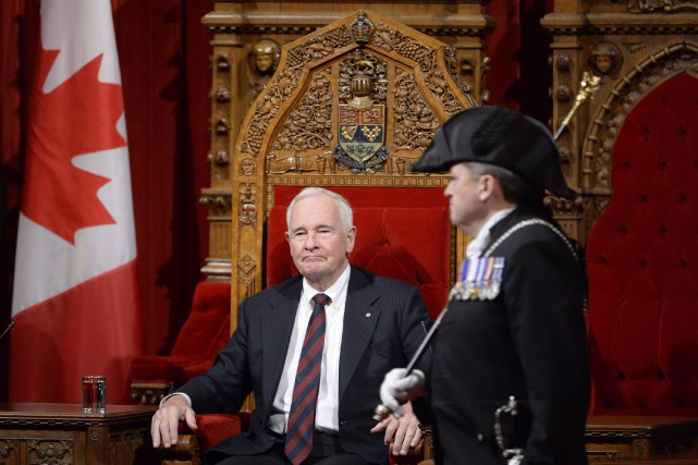 Le gouverneur général du Canada, David Johnston.... (Archives, La Presse Canadienne)