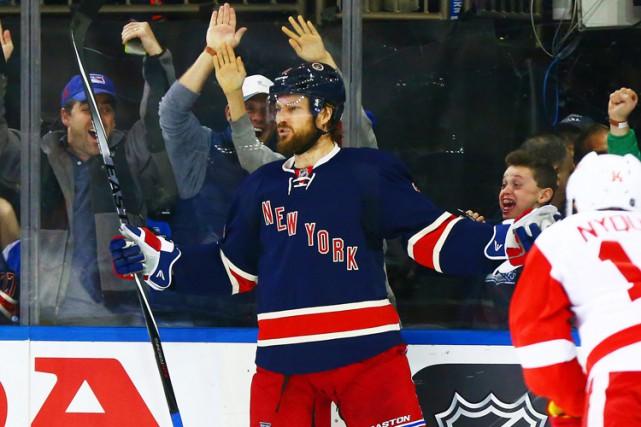 Kevin Klein a marqué à 1:59 de la prolongation et les Rangers de New York ont... (PHOTO REUTERS)