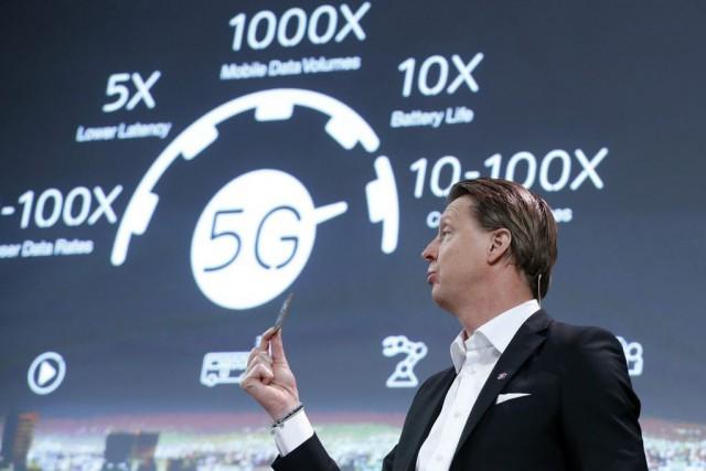 Le PDG d'Ericsson Hans Vestberg,au Mobile World Congress... (PHOTO ALBERT GEA, REUTERS)