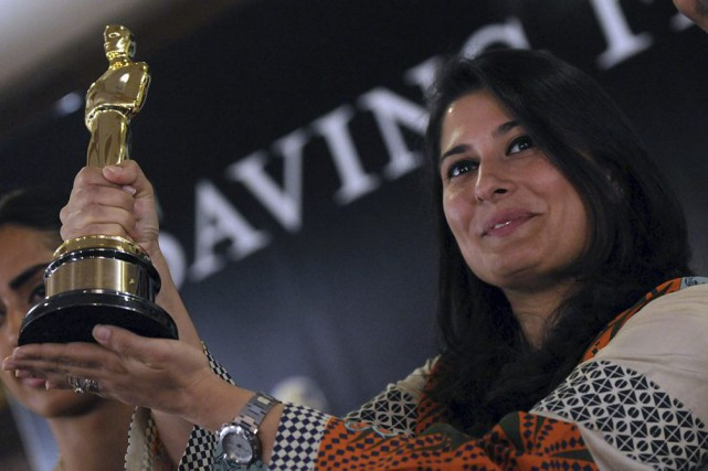 La réalisatrice Sharmeen Obaid-Chinoy en mars 2012.... (PHOTO ARCHIVES AFP)