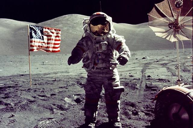 Eugene Cernan est le dernier astronaute à avoir... (PHOTO ARCHIVES AP)
