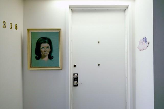 La porte de l'un des appartements du Chez-nous... (PHOTO NINON PEDNAULT, LA PRESSE)
