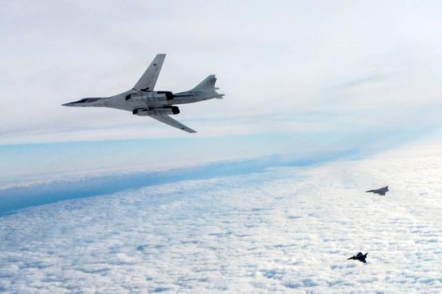 Les missiles provenaient des avions Tu-160 (photo) et... (PHOTO AFP)