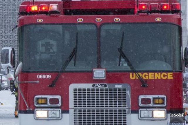 Un incendie a lourdement endommagé une résidence unifamiliale sur le rang 4... (Archives Le Soleil)