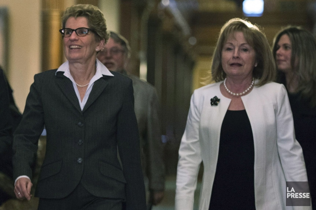 Kathleen Wynne doit prendre une large part du... (Archives, La Presse Canadienne)