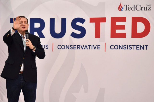 Ted Cruz est un adepte des «sales tours» selon... (PHOTO AFP)