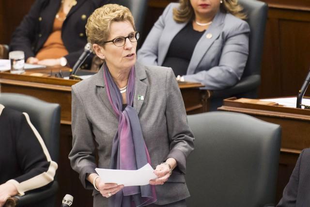 Le 22février dernier, la première ministre de l'Ontario,... (Archives PC)