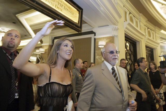 Céline Dion et René Angélil à Las Vegas... (Archives La Presse Canadienne, Joe Cavaretta)