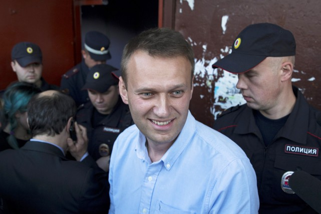 Alexeï Navalny, qui dénonce depuis des années la... (PHOTO PAVEL GOLOVKIN, ARCHIVES AP)