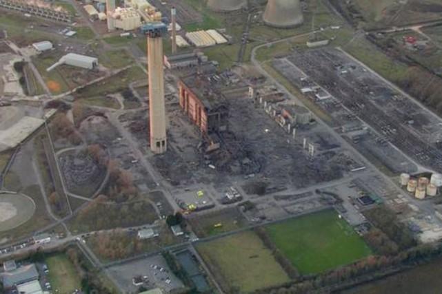 «Didcot A Power Station» est une centrale thermique... (PHOTO BBC.COM)