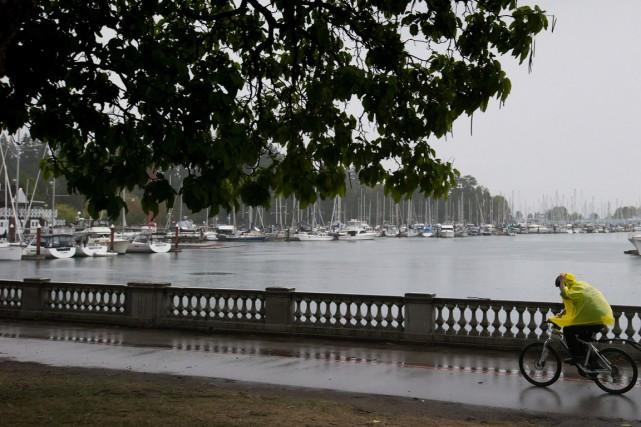 Vancouver a présenté mardi son premier réseau de vélos en libre-service,... (Photo La Presse Canadienne)