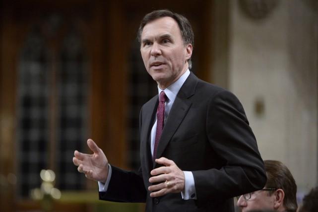 Le ministre Bill Morneau lors de la période... (La Presse Canadienne, Adrian Wyld)