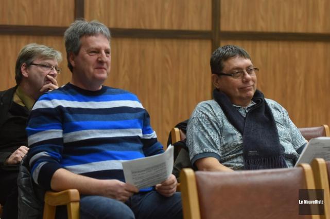 François Bonenfant et Claude Garceau, que l'on voit... (François Gervais, Le Nouvelliste)