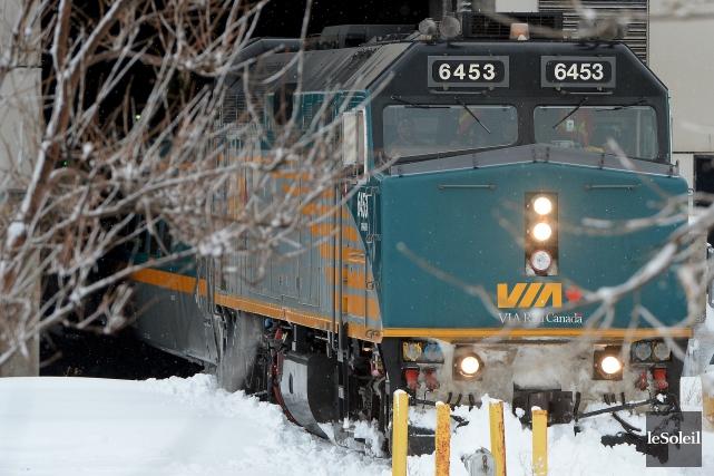 VIA Rail effectue la mise à jour de... (Le Soleil, Erick Labbé)