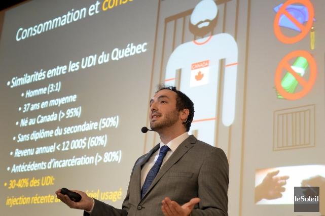 David-Martin Milot, médecin résident en santé publique, a... (Le Soleil, Erick Labbé)
