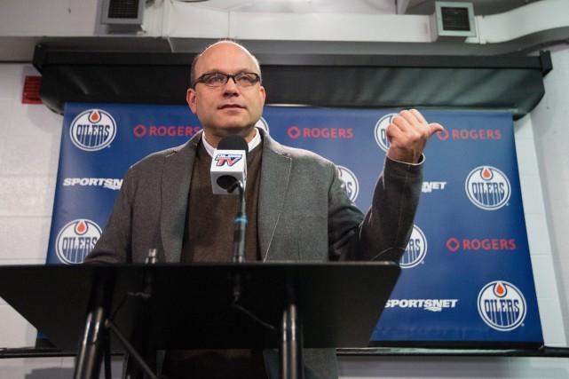 Le directeur général des Oilers d'Edmonton, Peter Chiarelli,... (PhotoAmber Bracken, La Presse Canadienne)