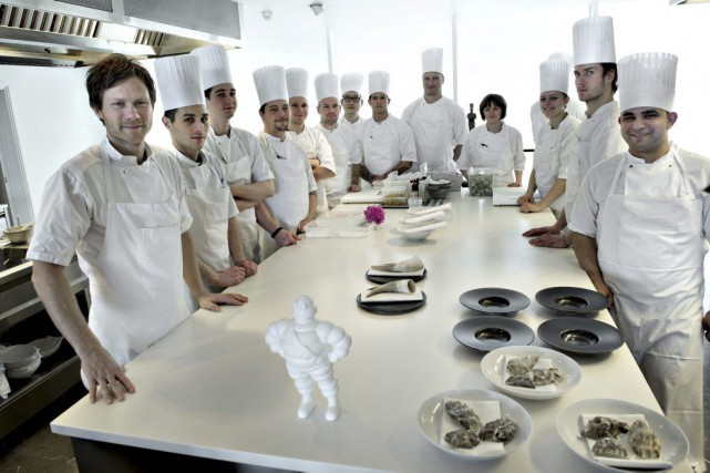 Le chef du restaurant Geranium, Rasmus Kofoed (à... (PHOTO REUTERS / SCANPIX DENMARK)