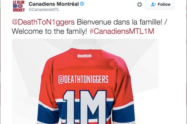 Le Canadien de Montréal a présenté des excuses après que des commentaires... (Photo tirée de Twitter)