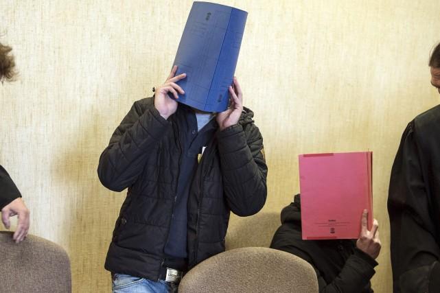 Les deux hommes condamnés, un Marocain et un... (AFP, Federico Gambarini)
