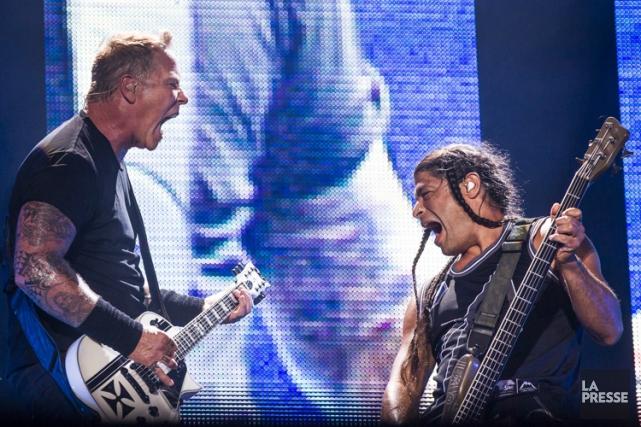 Metallica lors de leur passage au parc Jean-Drapeau... (PHOTO OLIVIER PONTBRIAND, LA PRESSE)