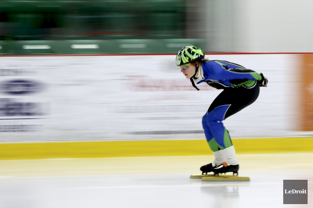 La patineuse gatinoise Noémie Carrier a été convoquée... (Patrick Woodbury, LeDroit)